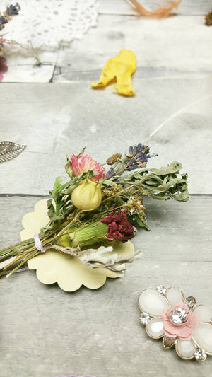 Miniature Dried Floral Bundle*Placeholder*Boutonniere with optional gift tag