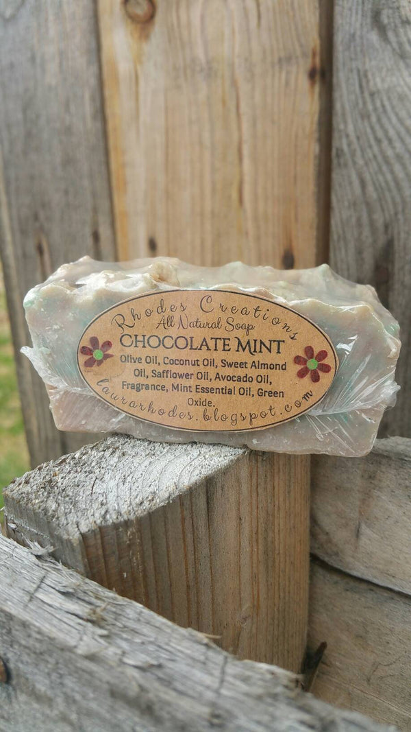 All Natural Handmade Soap Chocolate Mint