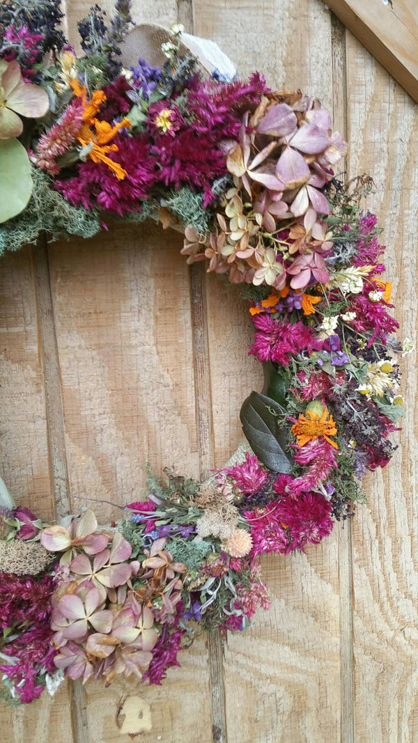 Dried Floral and herb Wreath: All Natural from Nature