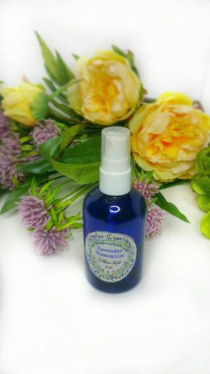 Pillow Mist Lavender Chamomile Relaxing and Soothing-4 oz. Cobalt Blue Sprayer Bottle