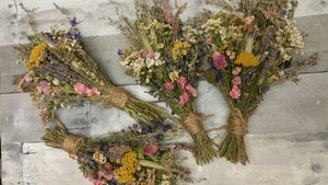 Pastel Beauty Dried Floral Bouquet-Medium size