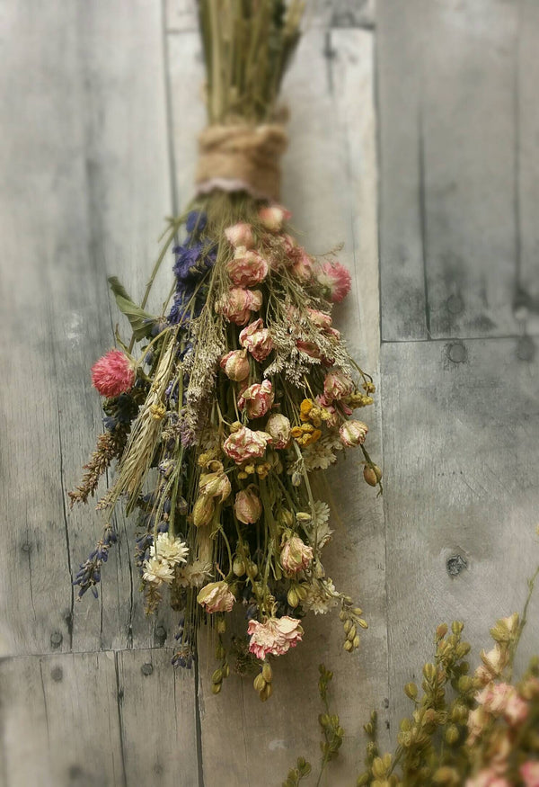 Pastel Beauty Dried Spring Floral Bouquet