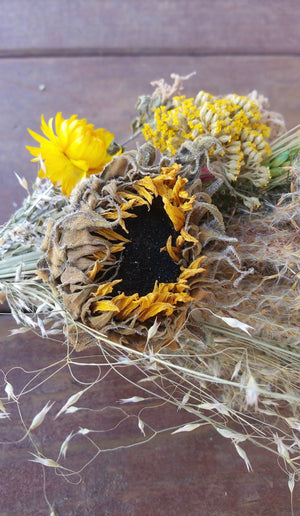 Nature's Bounty Dried Herb*Home Decor* Dried Floral Ornament- Farmhouse Fall Bouquet