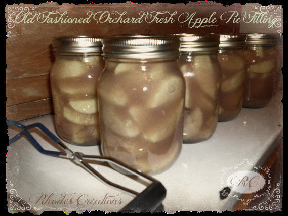 Old Fashioned Orchard Fresh Apple Pie Filling* Sugar Free* Pint Jar