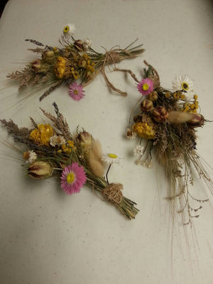 Nature's Bounty Dried Herb*Home Decor*Dried Floral Ornament-Spring theme Decoration*Small Floral Bundle*All Natural from Nature*Set of 3