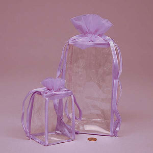 Organza top Soft VINYL BAG Lavender*Cosmetics*Bath and Body*Gift Set Bag:Single Bag