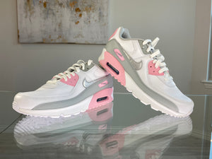 Nike Air Max 90 White/ Pink/ Grey/ Silver - Women's 8.5
