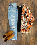 Orange Plaid Coat