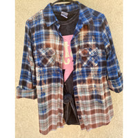 Dipped Flannel #3|READY TO SHIP