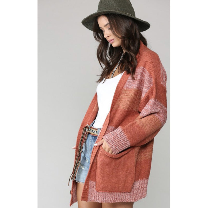 Clay Striped Cardigan