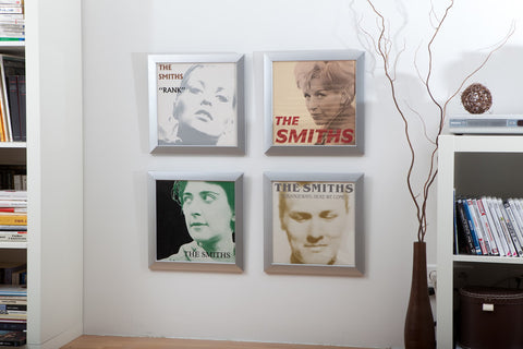 The Smiths Vinyl Records Framed and Displayed on the Wall from RockonWallUSA