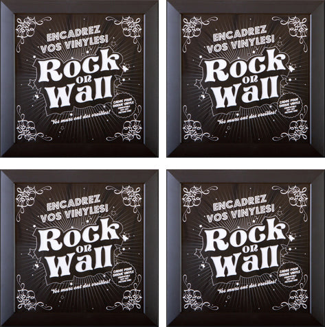 RockonWallUSA - Set of 4 vinyl record frames to display your favorite album on the wall