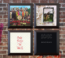 Load image into Gallery viewer, RockonWallUSA - Picture of Set of 4 vinyl record frames to display your favorite album on the wall