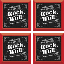 Load image into Gallery viewer, Set of 4 Red vinyl record frames to display your favorite album on the wall by RockonWallUSA