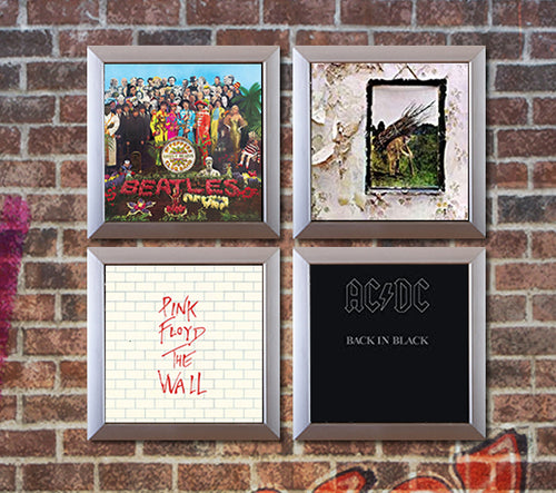 RockonWallUSA - Picture of Set of 4 vinyl record frames to display your favorite album on the wall