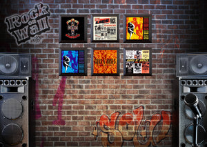 RockonWallUSA - Set of 6 vinyl record frames to display your favorite album on the wall. Shown with GnR records.