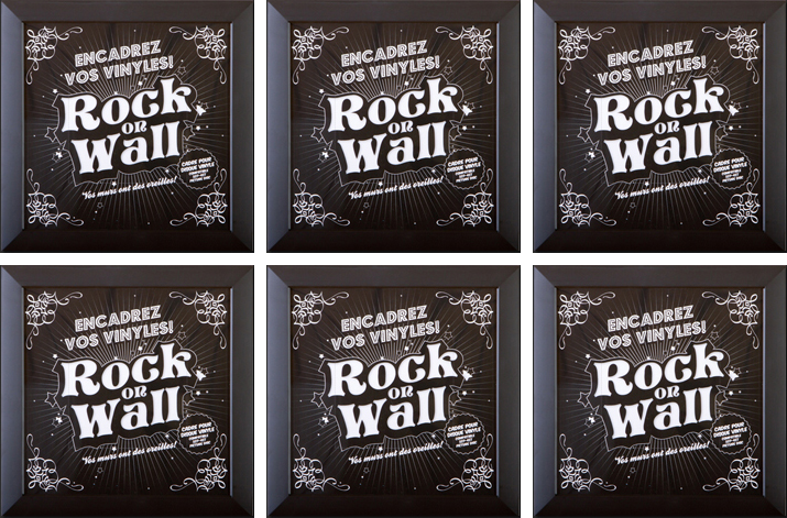 RockonWallUSA - Set of 6 vinyl record frames to display your favorite album on the wall.