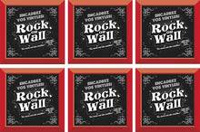 Load image into Gallery viewer, RockonWallUSA - Set of 6 RED vinyl record frames to display your favorite album on the wall.