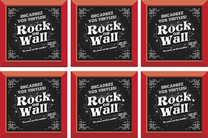 RockonWallUSA - Set of 6 RED vinyl record frames to display your favorite album on the wall.