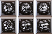 Load image into Gallery viewer, RockonWallUSA - Set of 6 silver vinyl record frames to display your favorite album on the wall.