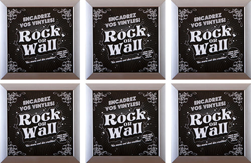 RockonWallUSA - Set of 6 silver vinyl record frames to display your favorite album on the wall.