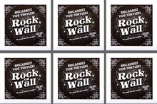 Load image into Gallery viewer, RockonWallUSA - Set of 6 white vinyl record frames to display your favorite album on the wall.