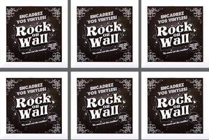 RockonWallUSA - Set of 6 white vinyl record frames to display your favorite album on the wall.