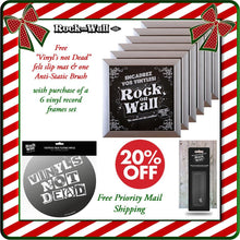 Load image into Gallery viewer, Free gifts with purchase of RockonWallUSA Set of 6 silver vinyl record frames