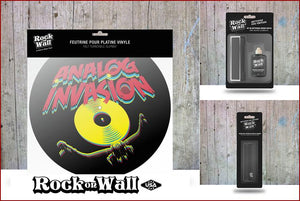 Gift set Analog Invasion Felt slip mat by RockonWallUSA