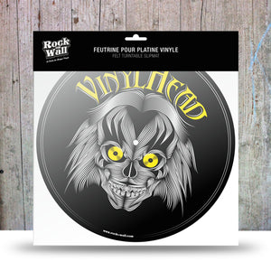"Picture of ""Vinyl Head"" felt turntable slipmat"