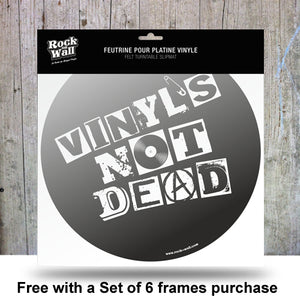 Set of 6 Silver Vinyl Record Frames to Display Your Albums + 2 Free gifts