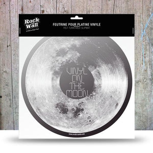 Vinyl on the Moon Felt slip mat by RockonWallUSA