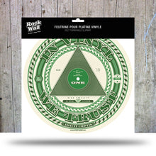 "Load image into Gallery viewer, Picture of ""In Vinyl We Trust"" Felt turntable slipmat"