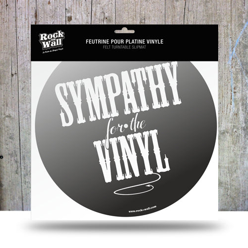 "Record player turn table slipmat. ""Sympathy for the Vinyl"""