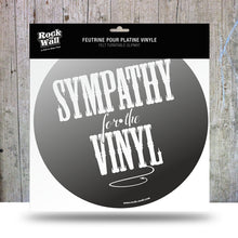Load image into Gallery viewer, Sympathy for the Vinyl Felt slip mat from RockonWAllUSA
