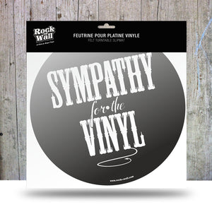 Sympathy for the Vinyl Felt slip mat from RockonWAllUSA