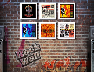 RockonWallUSA - Set of 6 white vinyl record frames to display your favorite album on the wall. Shown with GnR records.