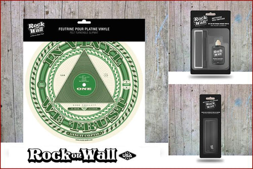 Gift set In Vinyl We Trust Felt slip mat by RockonWallUSA