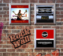 Load image into Gallery viewer, Vinyl Record LP Album Display Frame - silver - Ristband Album demo