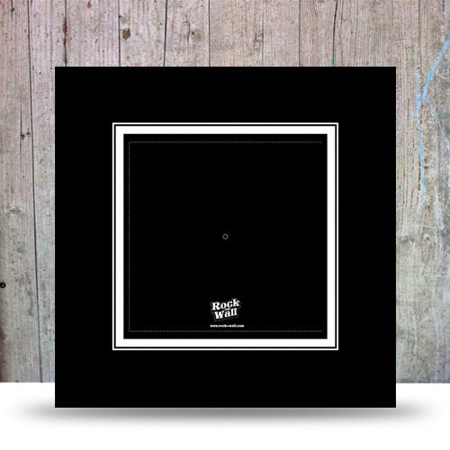 Set of 3 black cardboard insert to display 45 vinyl records or sleeveless 33LP.
