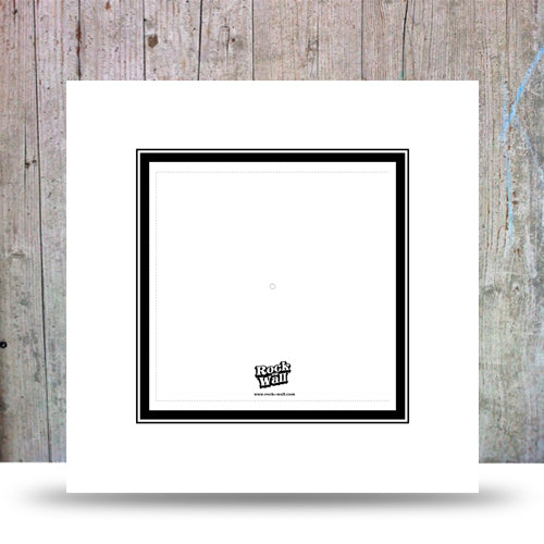 Set of 3 white cardboard inserts to display 45 vinyl records or sleeveless 33LP.