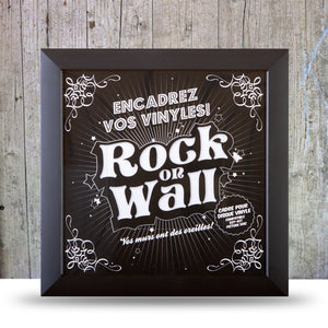 Vinyl Record LP Album Display Frame - black