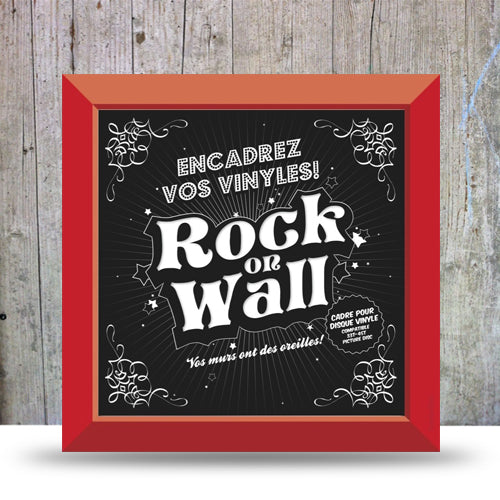 Vinyl Record LP Album Display Frame - Red.