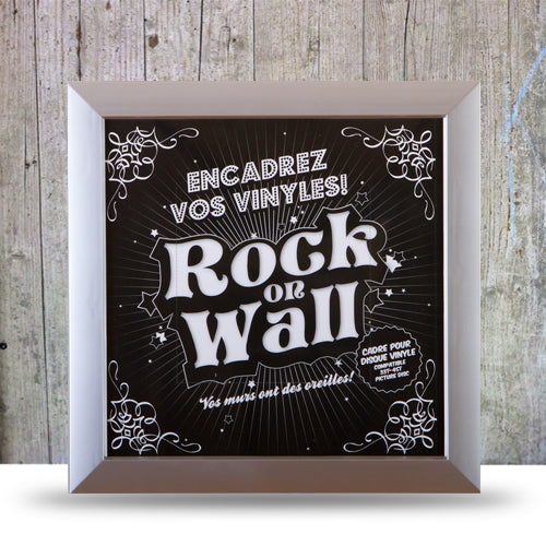 Vinyl Record LP Album Display Frame - silver