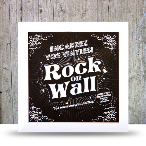 Vinyl Record LP Album Display Frame -White.