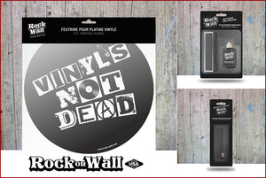 Gift Set Vinyl's not Dead: 1 slip mat + Vinyl Record Cleaning Kit + Anti-Static Record Brush