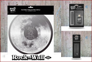 Gift set Vinyl on the Moon Felt slip mat by RockonWallUSA