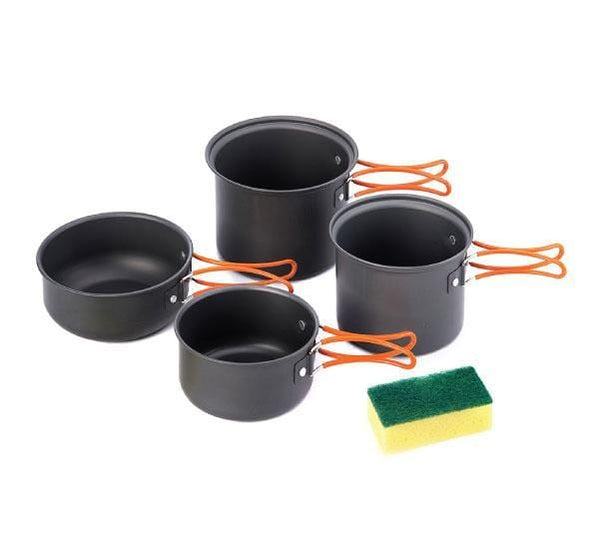 Camping Cooking Set Pots - 4Pcs