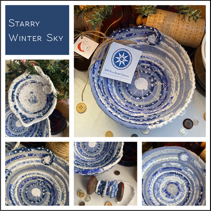 Starry Winter Sky - Create Your Own Baskets and Trivets