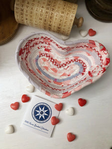 Small Heart Shaped Table Basket #1434- Ships FREE*